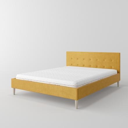 łóżko tapicerowane z kryształkami - 1