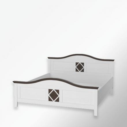 Białe łóżko