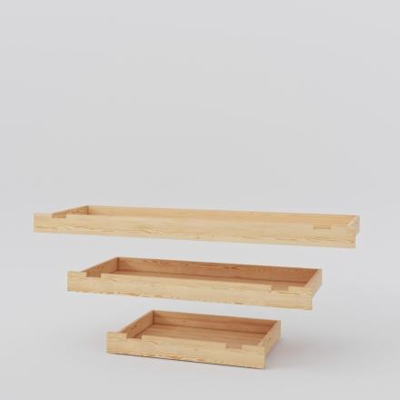 Szuflada do łóżka sosnowego - Łóżka Drewniane