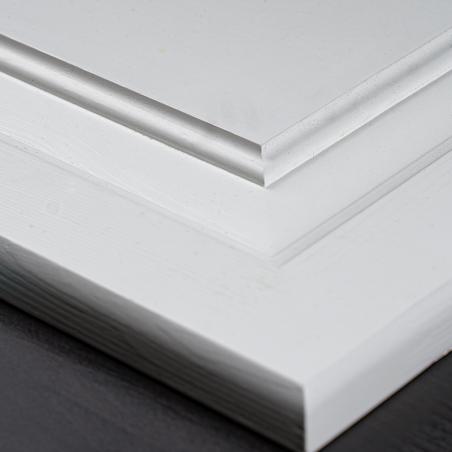 Białe łóżko - Łóżka Drewniane